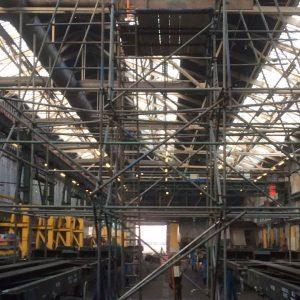 leeds scaffolding large room