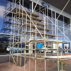 scaffolding ladders to do sign