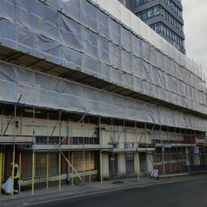 Leeds scaffolding side of building