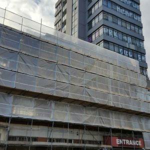 leeds scaffolding with waterprooofing